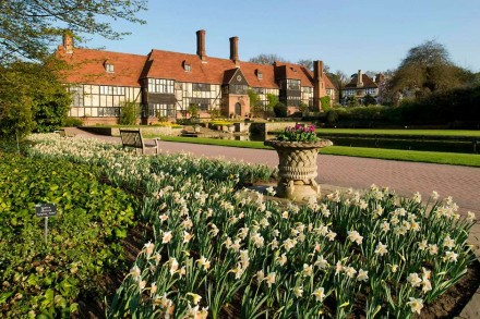 RHS Wisley - The Canal and Laboratory in Spring at RHS Garden Wisley